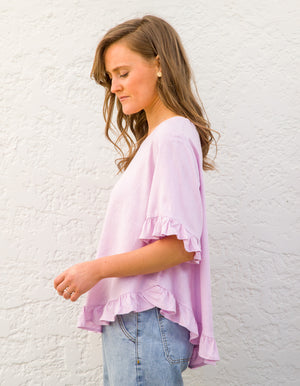 Stay True top in Lilac