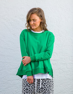 Heston cotton jumper in Green