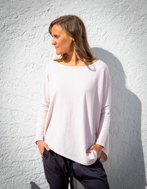 Cloud Nine knit jumper in Blush