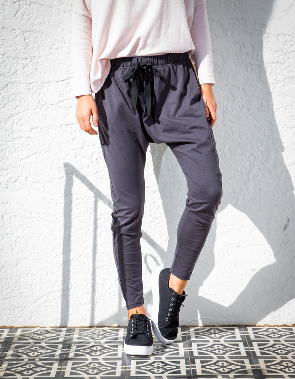 Kiera jogger pant in Charcoal