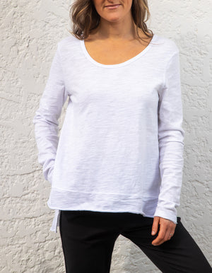 Weekend cotton top in White