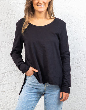 Weekend cotton top in Black