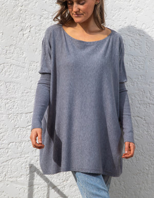 Be Mine knit jumper in Charcoal