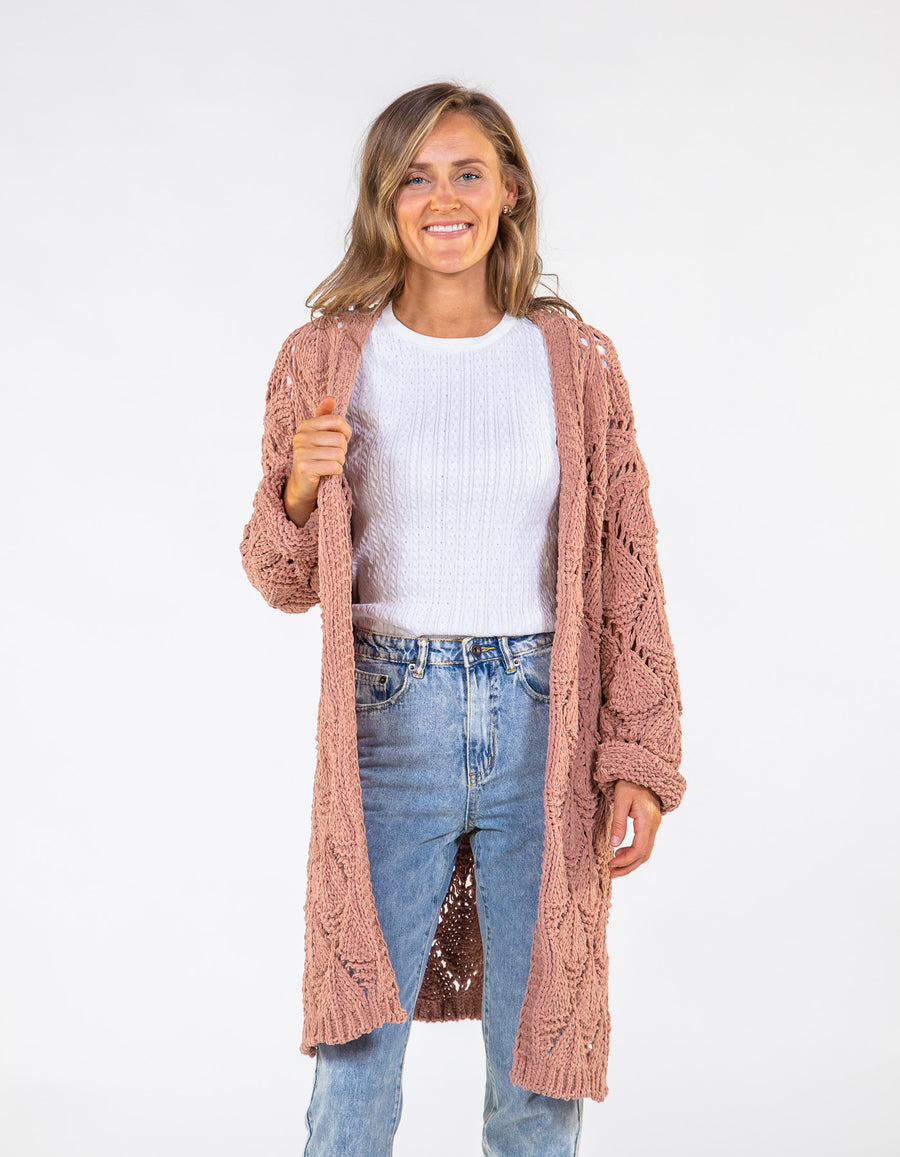 Met Somebody knit cardigan in Salmon