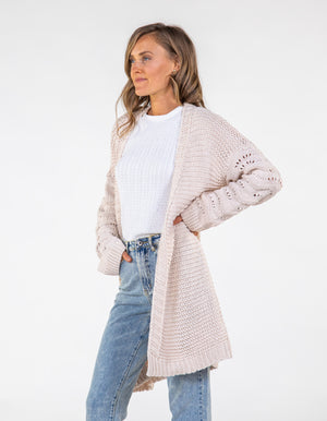 Sunset Dream knit cardigan in Cream