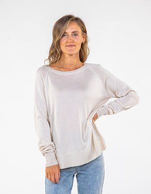 How About You knit top in Beige