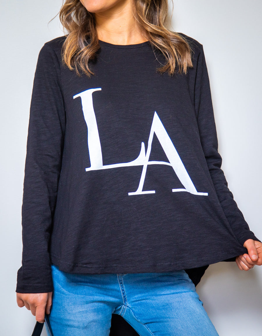 LA long sleeve top in Black