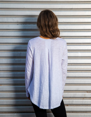 LA long sleeve top in White