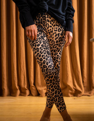 Hutton leopard leggings in Tan