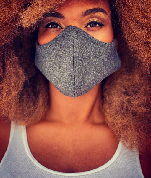 charcoal grey heavy cotton mask