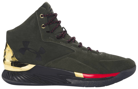 Under Armour Curry 1 Lux Mid Suede Downtown Green