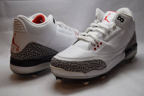 Air Jordan Retro 3 White Cement Cleat 2008
