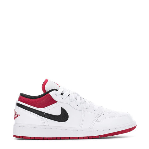 AIR JORDN 1 LOW WHITE/GYM RED