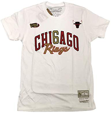 Mitchell & Ness 6 Rings Gold SS Tee Chicago Bulls