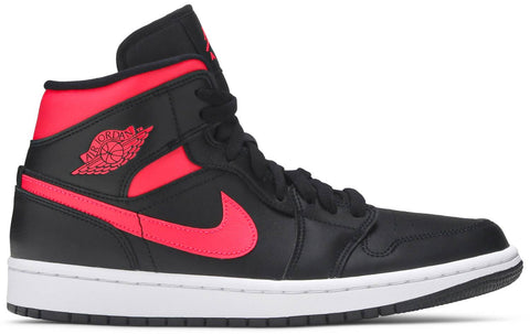 Jordan 1 Mid Black Siren Red (W)