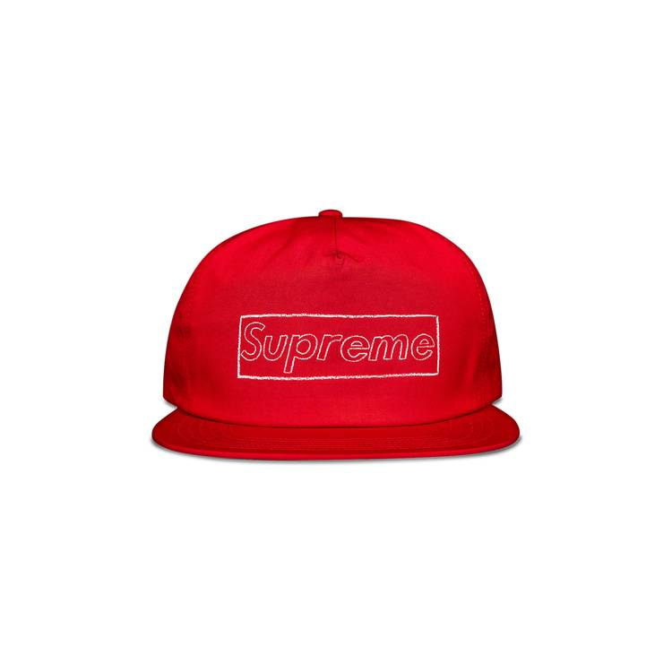 Supreme x KAWS Chalk Logo 5-Panel 'Red'