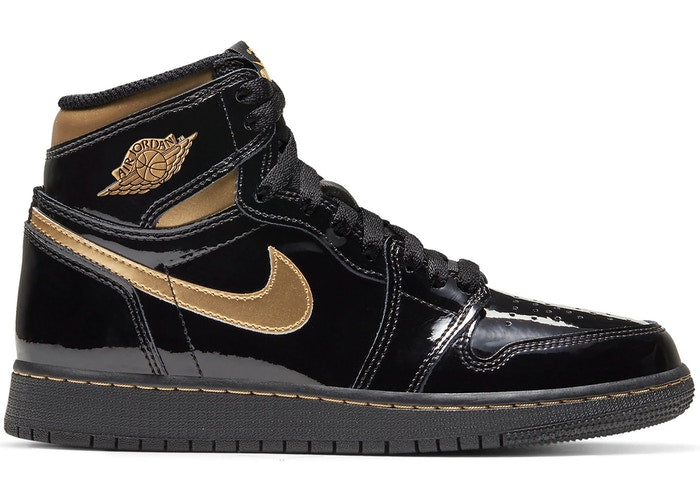 Jordan 1 Retro High Black Metallic Gold 2020 (GS)