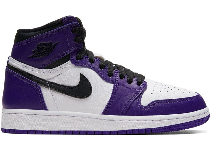 Jordan 1 Retro High Court Purple White (GS)
