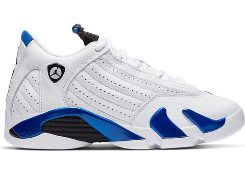 Jordan 14 Retro White Hyper Royal (GS)