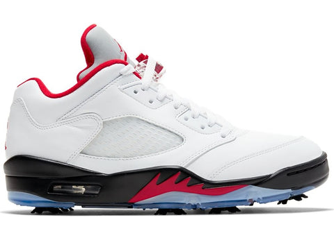 Air Jordan 5 Retro Low Golf Fire Red (Silver Tongue)