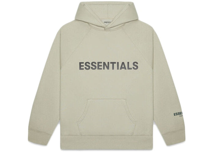 FEAR OF GOD ESSENTIALS 3D Silicon Applique Pullover Hoodie Moss