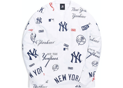 Kith Major League Baseball New York Yankees All Over L/S Tee White