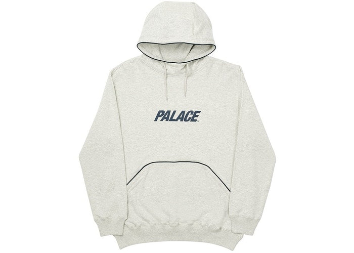 Palace Pipeline Hood Grey Marl