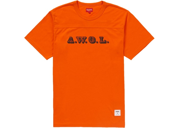 Supreme AWOL Football Top Orange