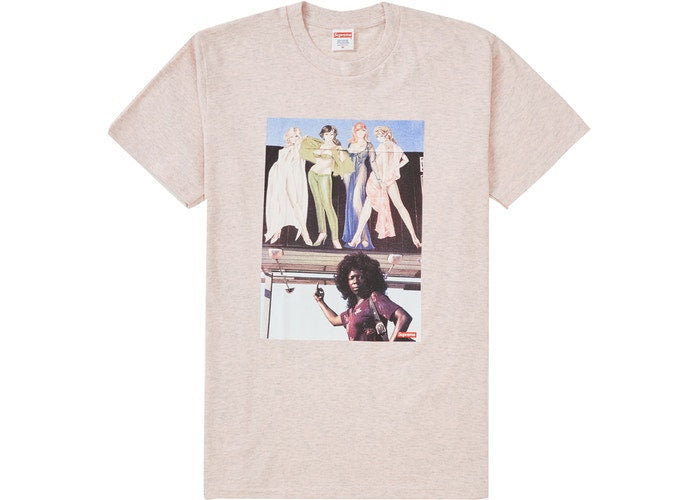 Supreme American Picture Tee Heather Light Pink