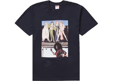 Supreme American Picture Tee Navy