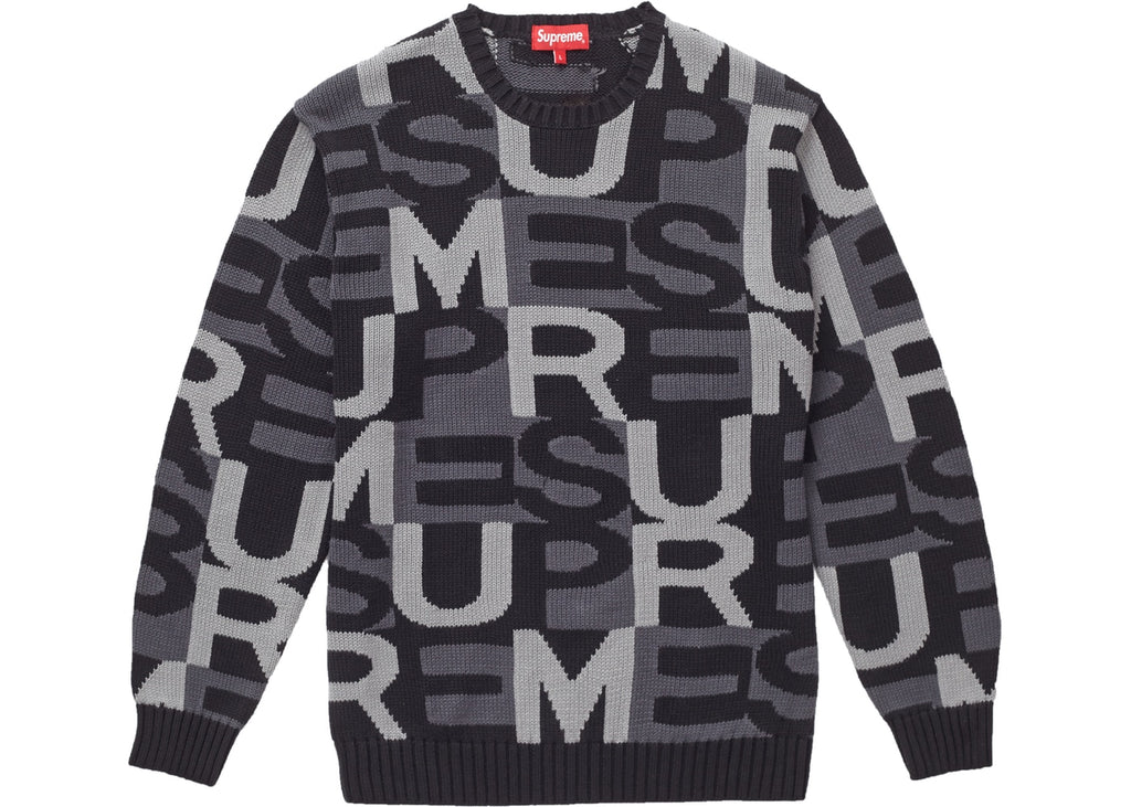 Supreme Big Letters Sweater Black