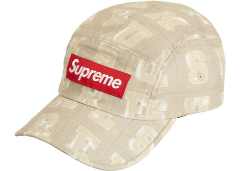 Supreme Blocks Camp Cap Tan