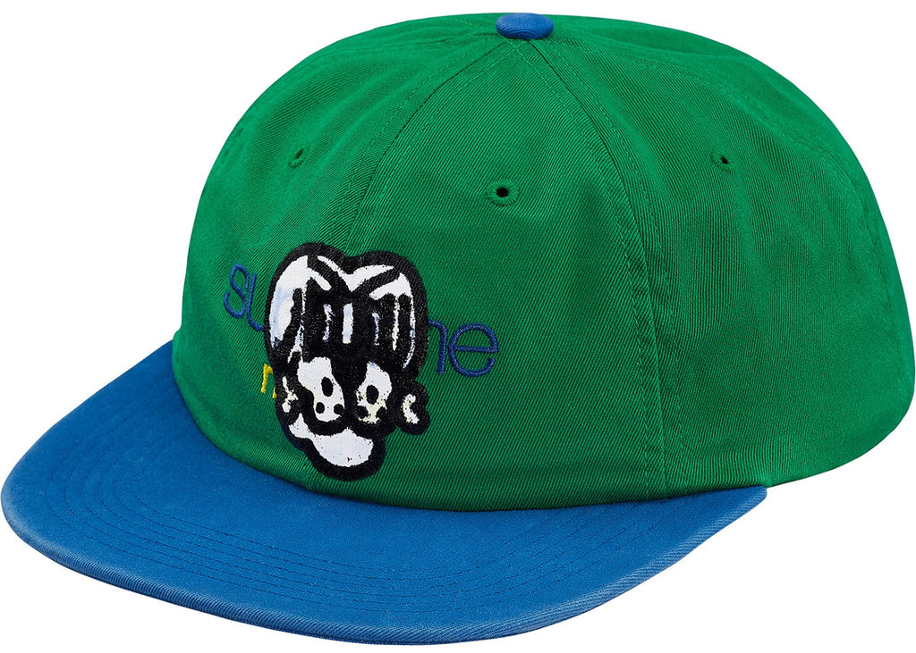 Supreme Bone Classic Logo 6-Panel Green