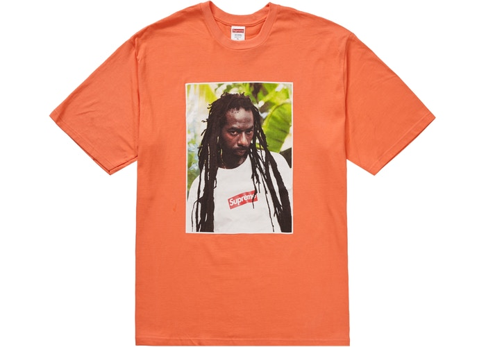 Supreme Buju Banton Tee Neon Orange