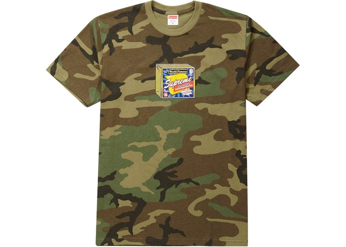 Supreme Cheese Tee Woodland Camo