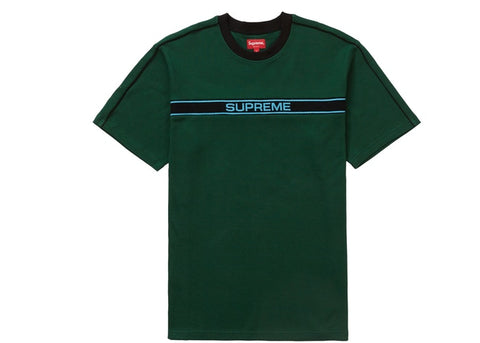Supreme Chest Stripe Logo S/S Top Dark Green