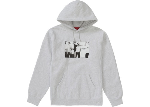 Supreme Classic Ad Hooded Sweatshirt Ash Grey