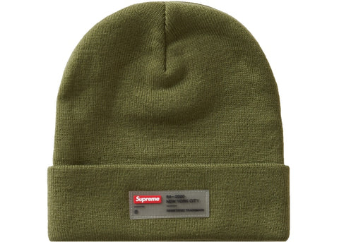 Supreme Clear Label Beanie Olive