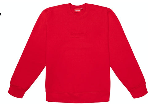 Supreme Cutout Logo Crewneck Red