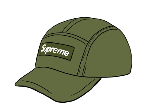 Supreme Dry Wax Cotton Camp Cap Olive