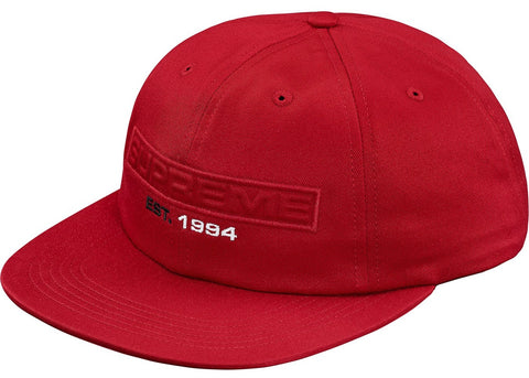 Supreme Embossed Logo 6-Panel Red