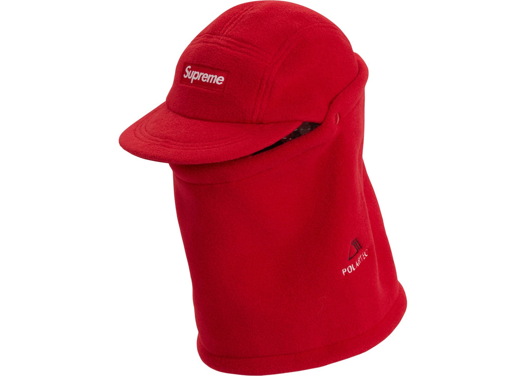 Supreme Facemask Polartec Camp Cap Red