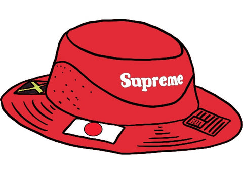 Supreme Flags Boonie Red