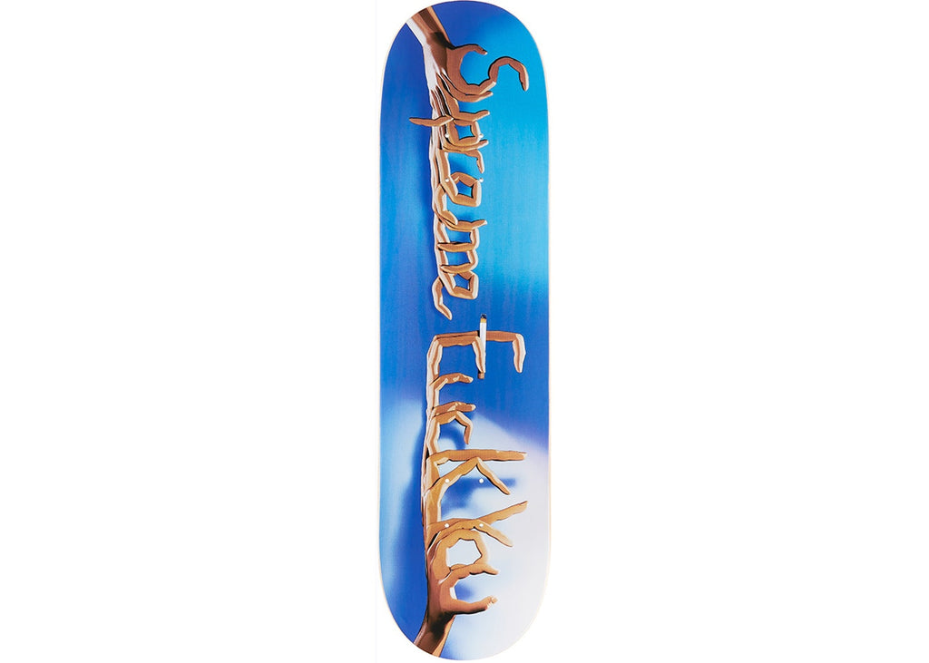Supreme Fuck You Skateboard Deck Blue