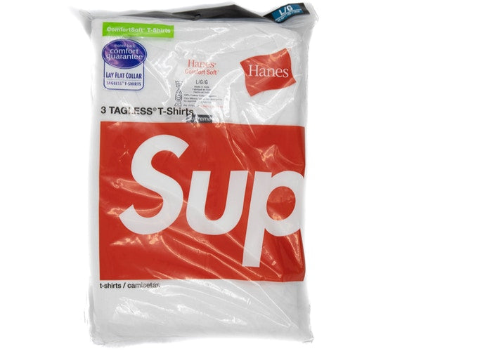 Supreme Hanes Tagless Tees (3 Pack) White