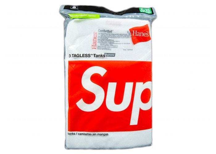 Supreme Hanes Tank Top (3 Pack) White