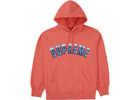 Supreme Icy Arc Hooded Sweatshirt Bright Coral