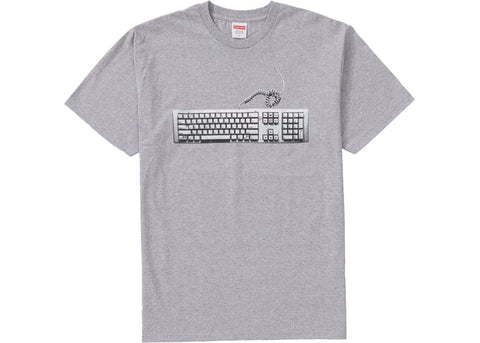 Supreme Keyboard Tee Heather Grey