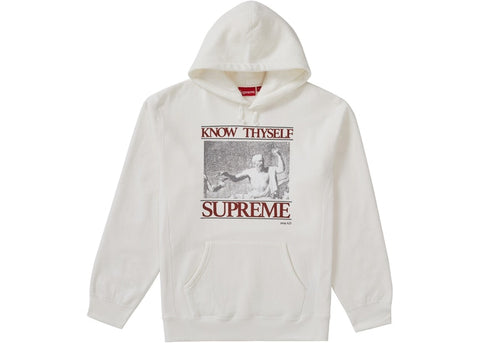 Supreme Know Thyself Hooded Sweatshirt White