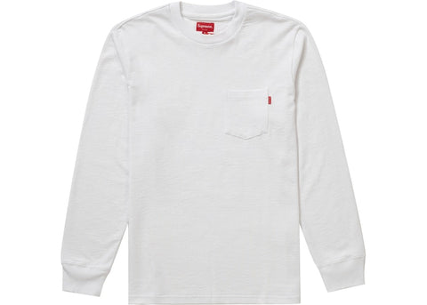 Supreme L/S Pocket Tee White